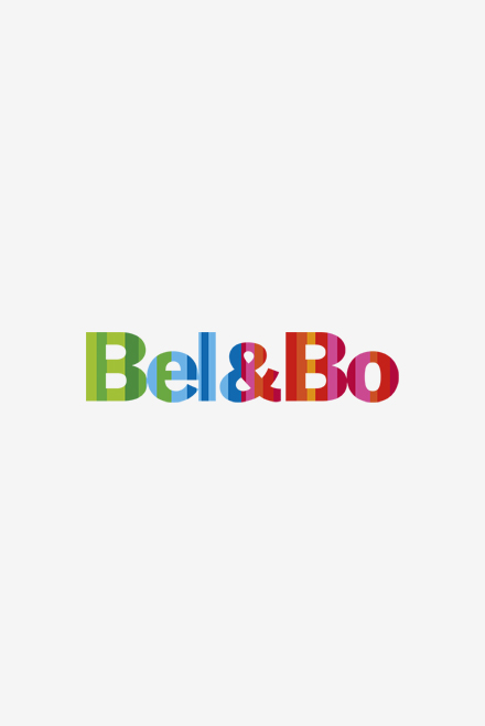 Sneaker blanc à rayures navy/rouge